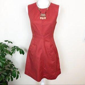 {Anthro} 🧣MAEVE earth orange sleeveless dress